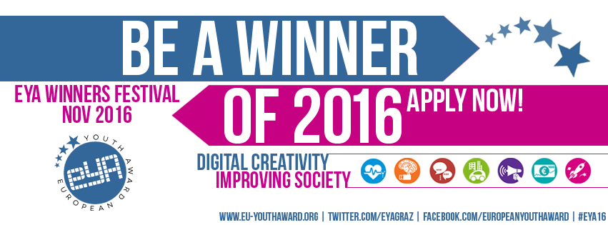 Once again European Youth Award is looking for digital projects with impact on society